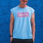regata animal print blue and pink – Tamanho: P-1442349410