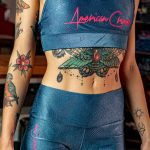 top combat back strappy metallic blue and pink-1008507070