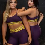 short elástico cruzado purple and yellow-989214668