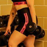 short cintura alta black and pink – Tamanho: P-169081677