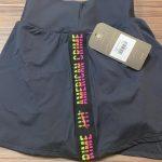 short saia black and tricolor s/fenda – Tamanho: P-1226965928