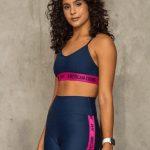 short cintura alta dark blue and pink-1860294616