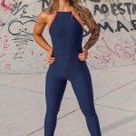macacão new american dark blue and orange – Tamanho: P-11362341
