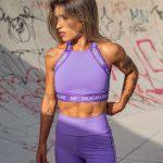 short cintura alta lavender and purple-180087990