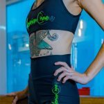 short amrc writing black and gray with green-1513838625