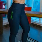 legging amrc writing black and gray with green-904617376